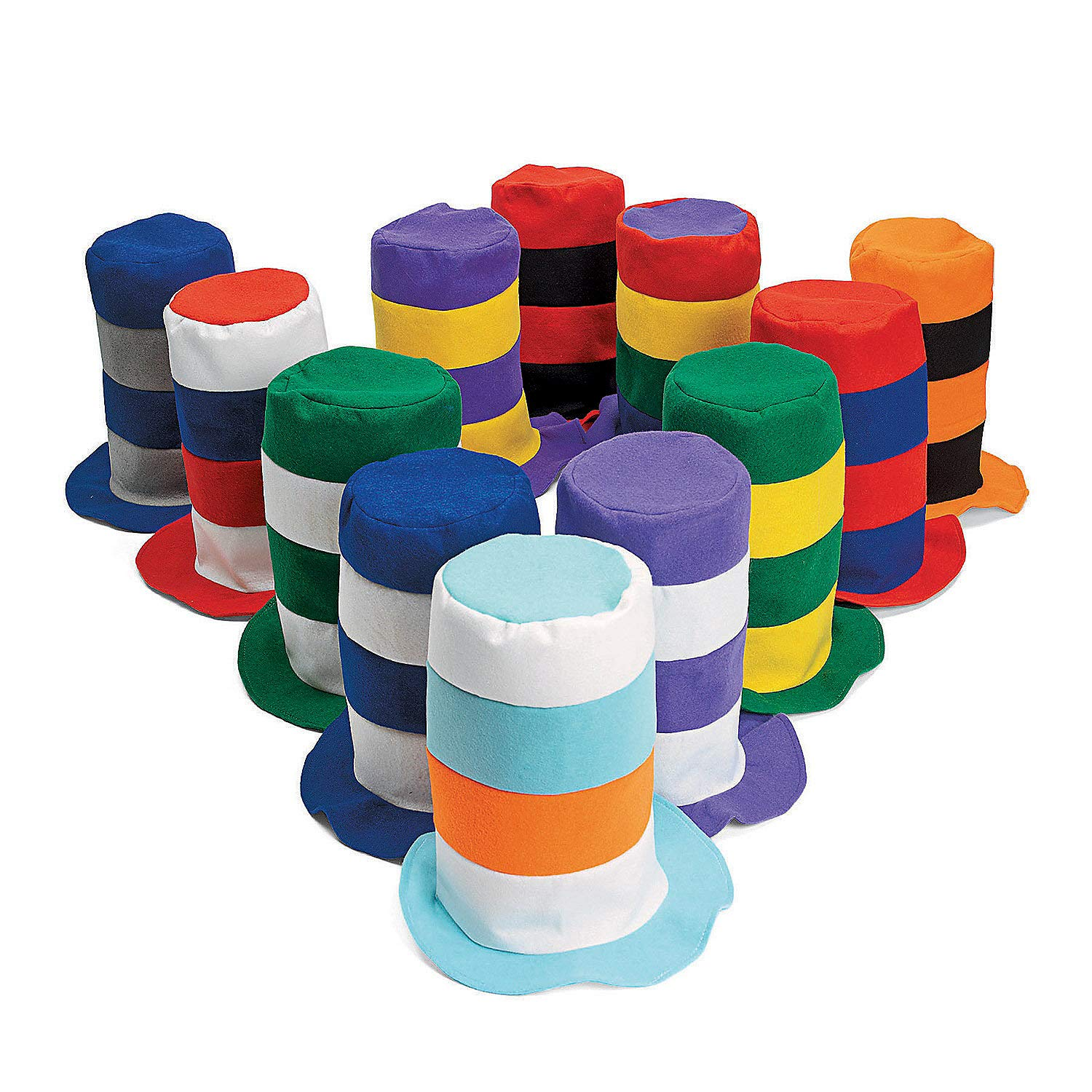 Fun Express Stovepipe Party Hat Assortment (1 dz) [Toy]
