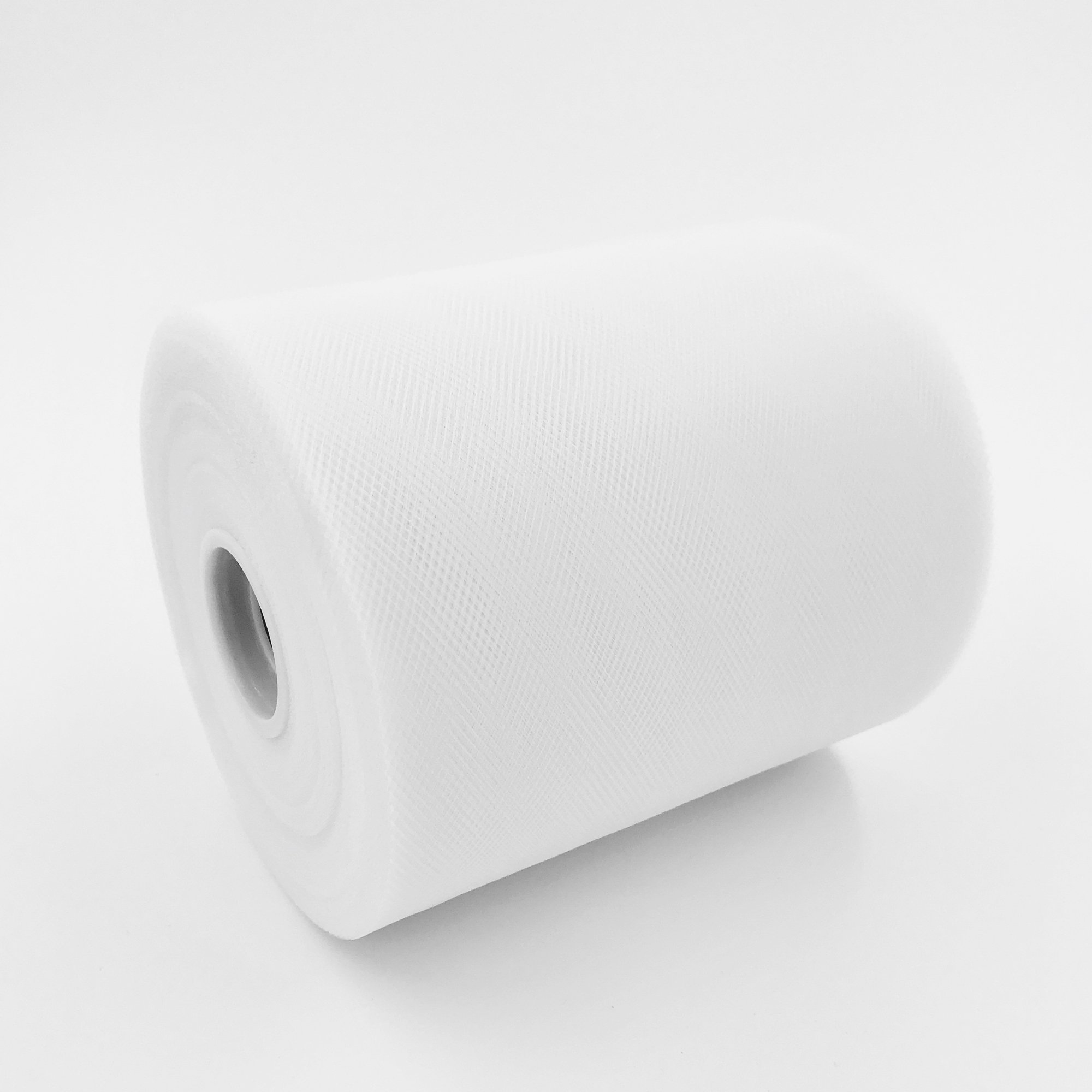 Craft and Party, 6'' by 200 Yards (600 ft) Fabric Tulle Spool for Wedding and Decoration. Value Pack. (White) by Craft And Party (Image #3)