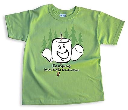 1fefc5c6abcb Amazon.com  Mountain Graphics Camping Marshmallow Kids  T-Shirt ...