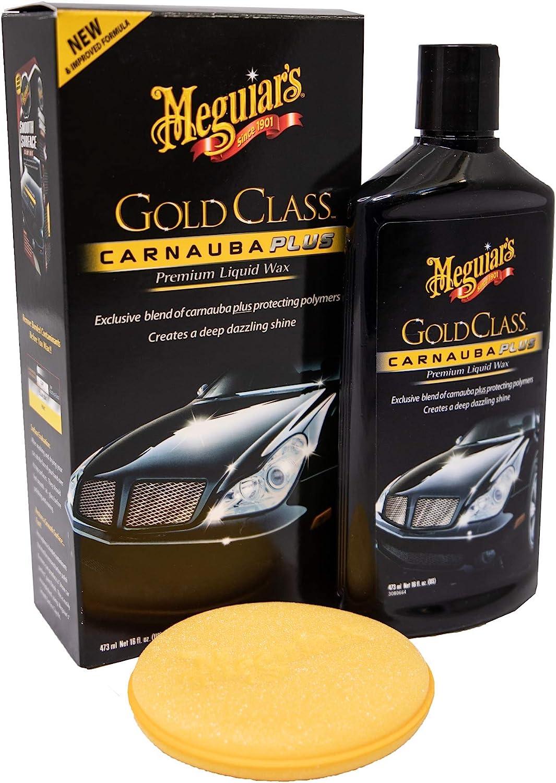 Meguiar S G7016eu Gold Class Carnauba Plus Premium Liquid Wax Autowachs 473ml Auto