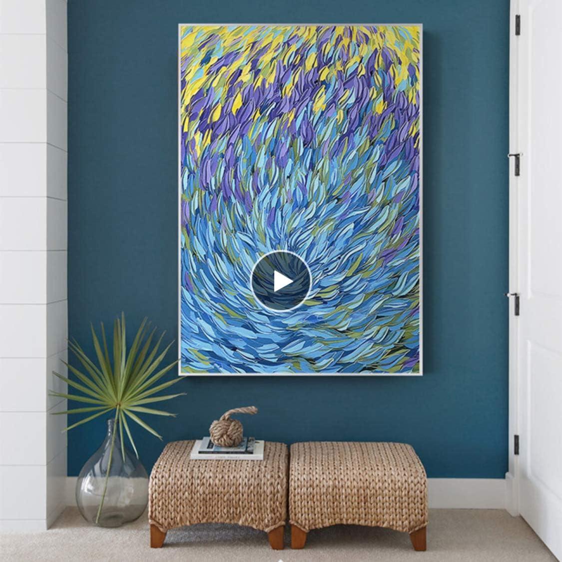 Danjiao Famosos Peces Abstractos Lienzo Pintura Ocaen Mar Azul Decoración Del Hogar Arte De La Pared Cuadros Para Sala Carteles E Impresiones Sala De Estar Decor 60x90cm