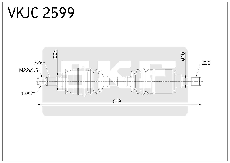 SKF VKJC 2599 Antriebswelle SKF GMBH VKJC2599