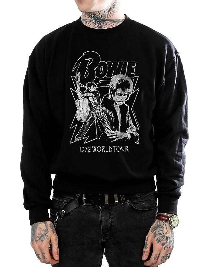 David Bowie Hombre Mono 1972 World Tour Camisa De Entrenamiento XXX-Large Negro: Amazon.es: Ropa y accesorios