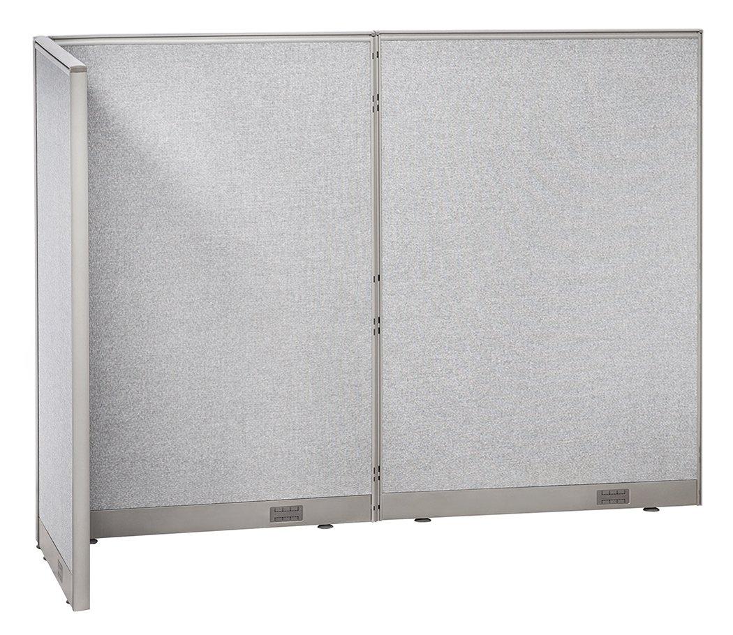 GOF L-Shaped Freestanding Partition 30D x 96W x 72H / Office, Room Divider 2.5' x 8' (30D x 96W x 72H)