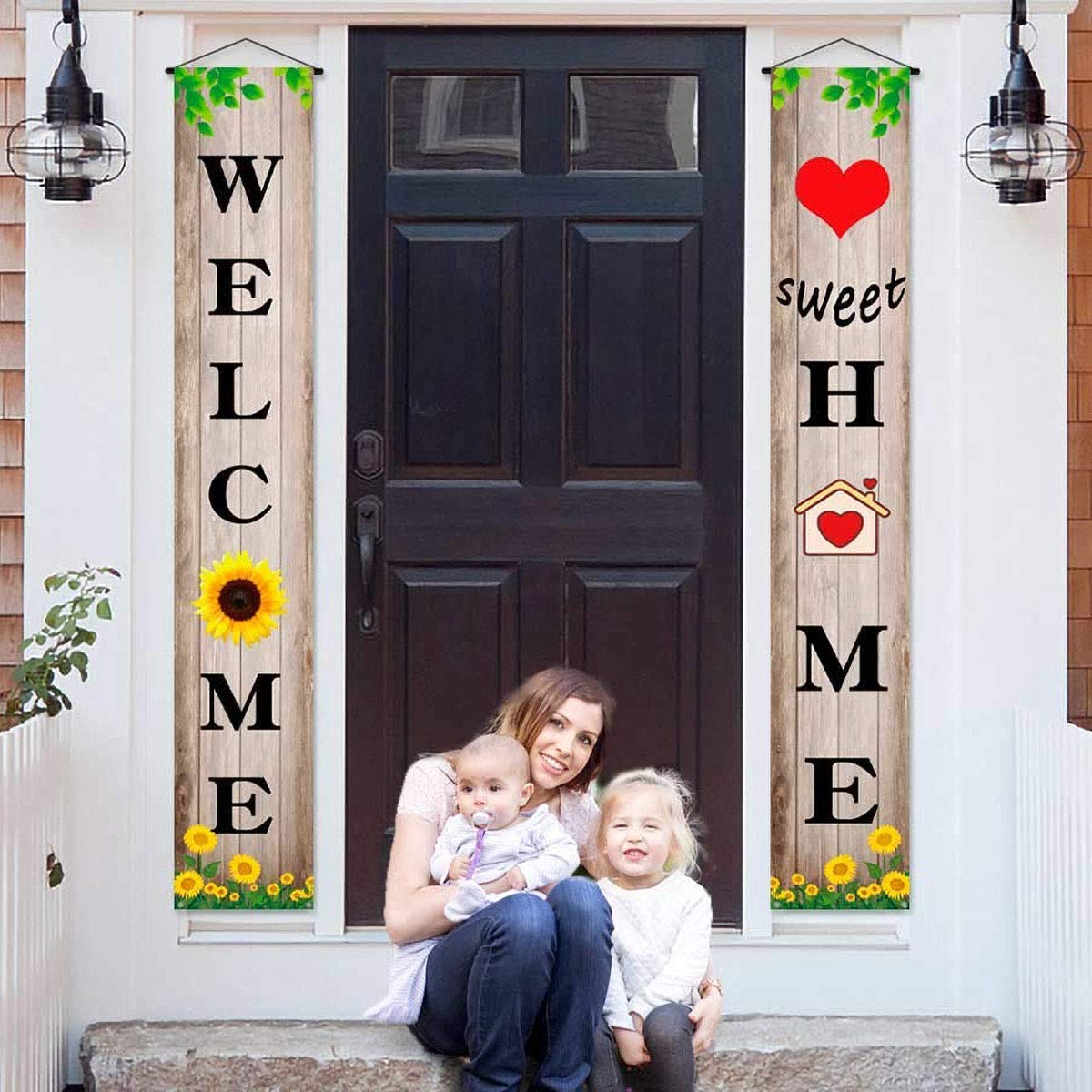Welcome Home Decoration Banner Friends Husband Family Baby Homecoming Welcome Sign Gathering Party&Housewarming Celebration Decor and Supplies