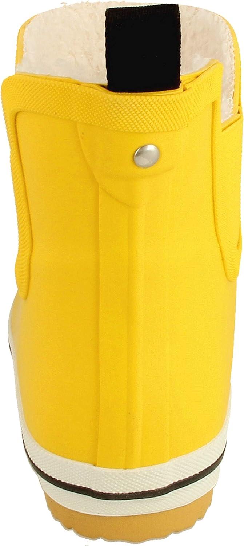 derbe Damen Gummistiefel Wattpuuschen Pelz gelb 36