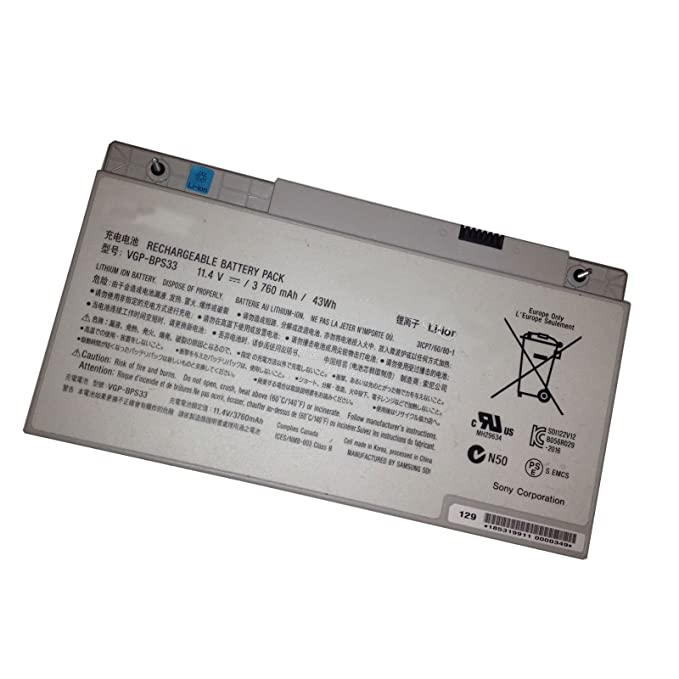 Amazon.com: Scit® 43wh/3760mah VGP-BPS33 Battery for SONY VAIO SVT-14 SVT-15 T14 T15 Touchscreen Ultrabooks: Computers & Accessories