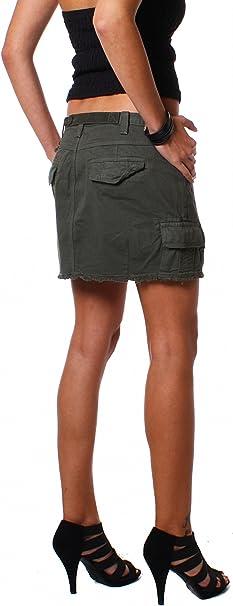 M.O.D - Falda - cargo - Básico - para mujer verde Large : Amazon ...