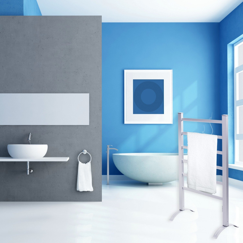 Kesser® Elektrischer Handtuchwärmer ✓ Aluminium ✓ Heizung ...