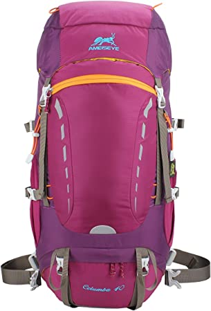 Eshow Zaino 40 Litri da Trekking Montagna Zaino 40L Escursionismo Campeggio Viaggio Hiking Uomo Donna Unisex Impermeabile Leggero con Copertina Antipioggia Outdoor Sport in Nylon