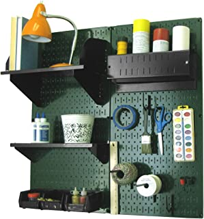 product image for Wall Control Pegboard Hobby Craft Pegboard Organizer Storage Kit with Green Pegboard and Black Accessories
