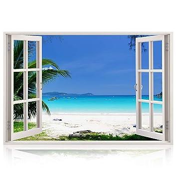 3d Wandbild Geoffnetes Fenster Grossformatig Aus Hochwertigem Vinyl