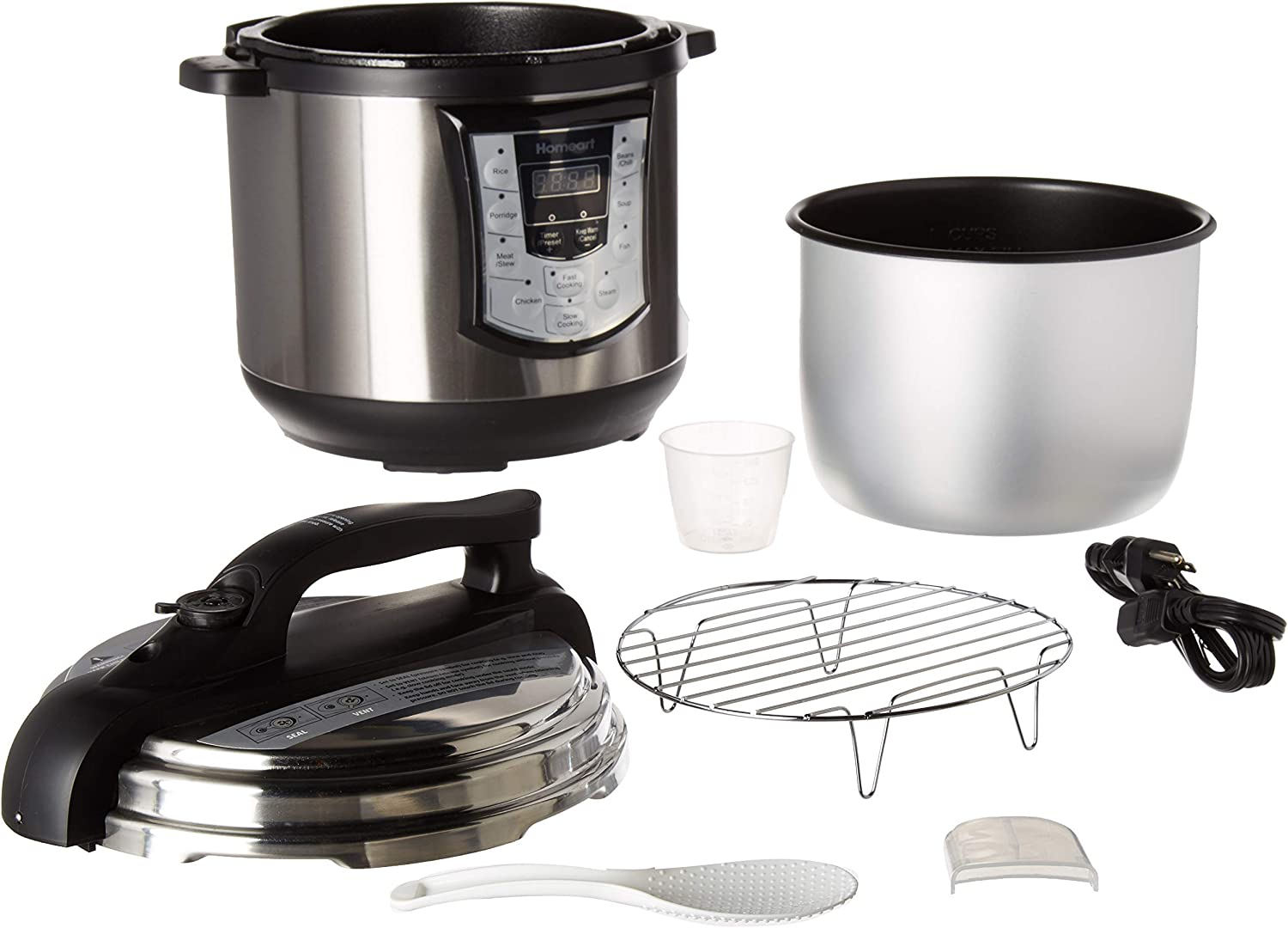 Multipot by Homeart Best 2019 Multi Pot Pressure Cooker Over 6QT and Programmable Settings with Multifunctions
