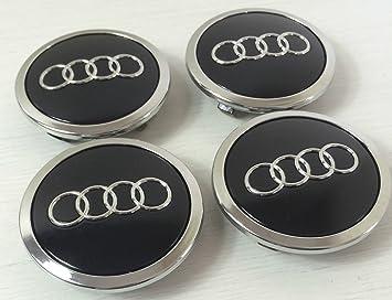 Juego de chapas de 4 Audi aleación rueda central tapacubos negro 69 mm 4B0601170 A S3 ...