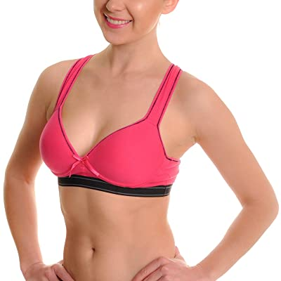 Angelina Women's Cotton Sports Bras (6-Pack) at Women's Clothing store