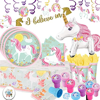 Amazon.com: Unicorn Deluxe MEGA Party Pack con decoraciones ...