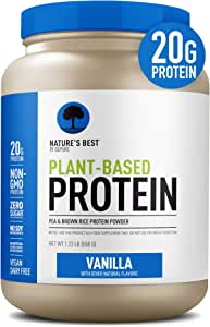 Nature's Best Plant Based Vegan Protein Powder by Isopure - Organic Keto Friendly, Low Carb, Gluten Free, 20g Protein, 0g Sugar, Vanilla, 20 Servings
