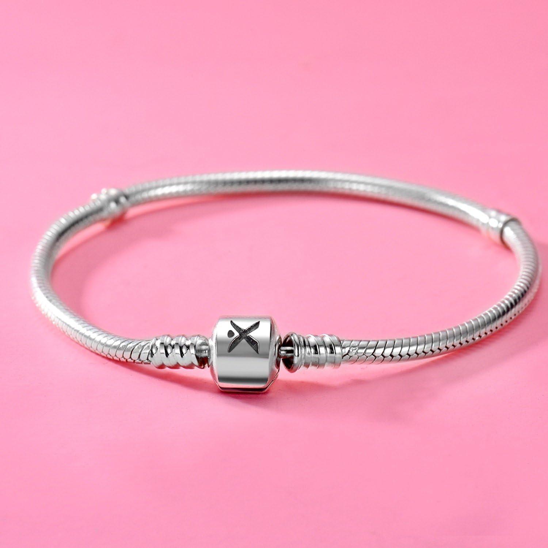 CHANGEABLE Bracelet pour Femme Argent Sterling 925 17CM,19CM,21CM