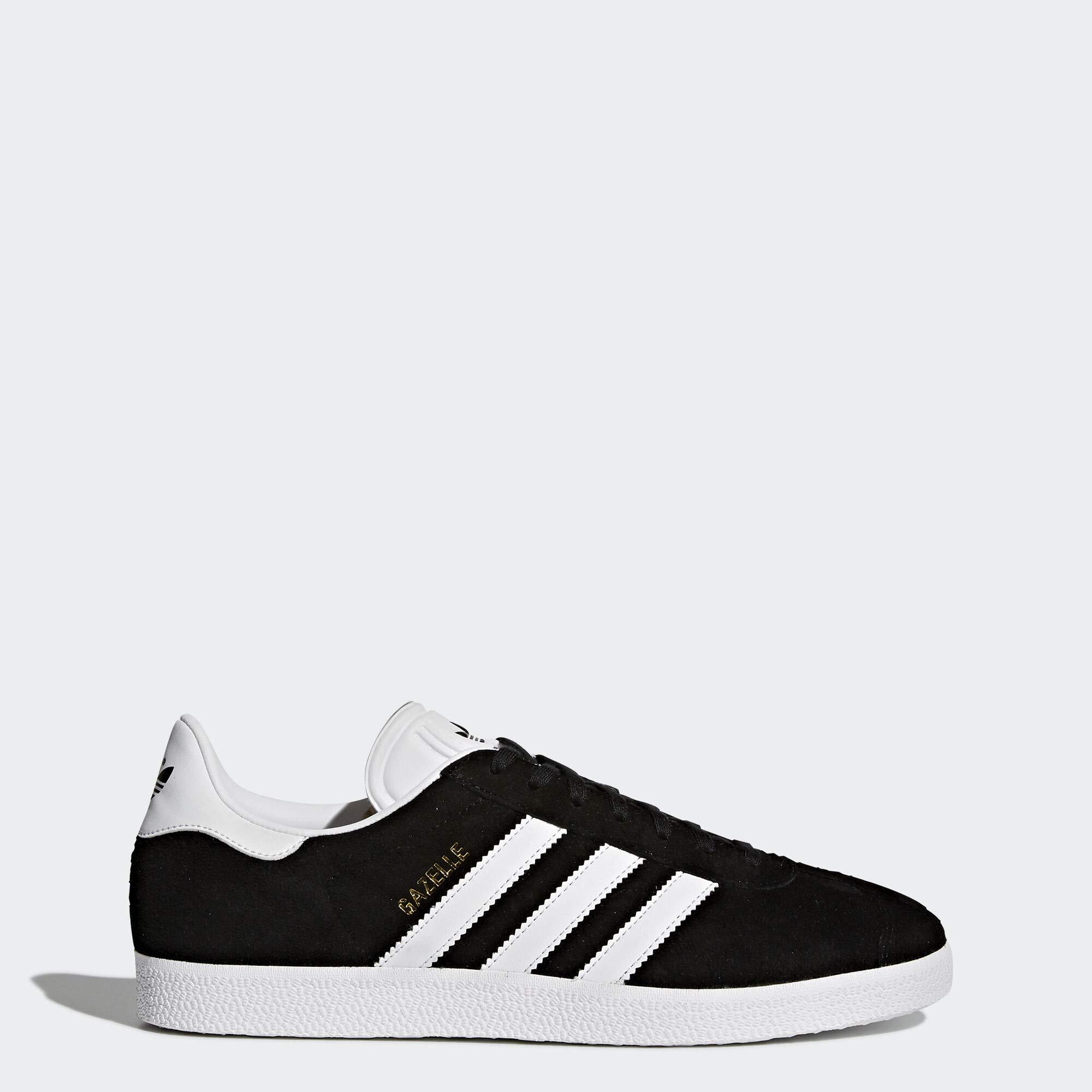 Adidas Originals Men's Gazelle Lace-up Sneaker,Black/White/Gold Met.,9 M US by adidas Originals