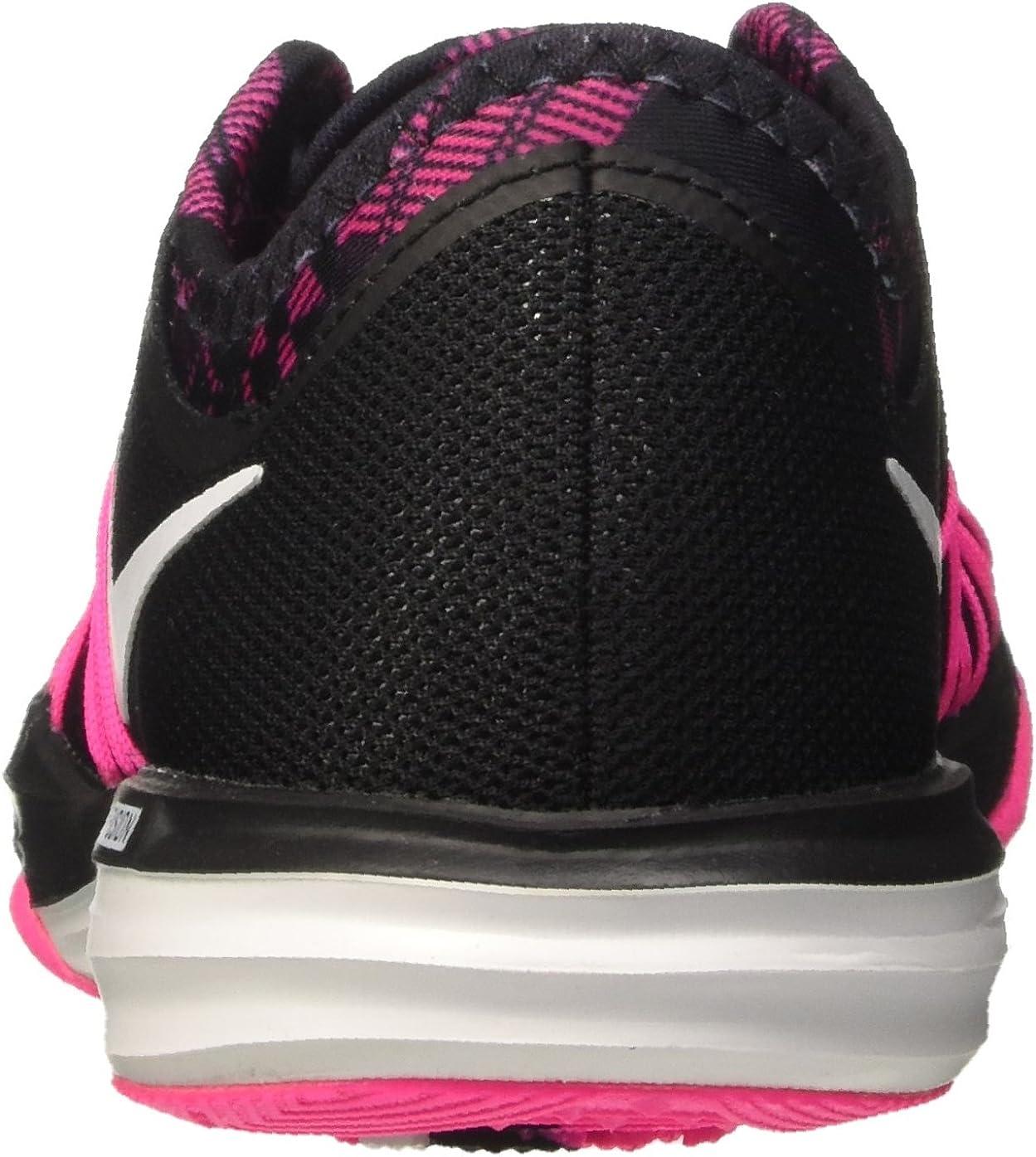 Nike W Dual Fusion TR Hit PRNT, Chaussures de randonnée Femme Noir Black Noir Explosion Blanc Rose