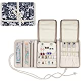 Teamoy Jewelry Organizer, Travel Jewelry Roll Case for Necklaces, Earrings, Bracelets, Rings, Brooches and More