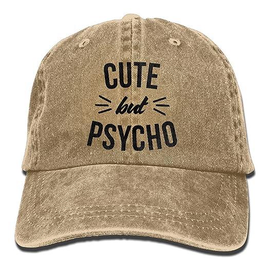 Amazon Com Mens Womens Baseball Cap Cute But Psycho Adjustable Jean