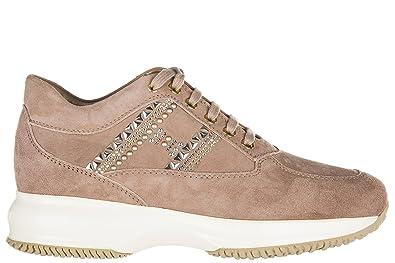 57e7fc438b52c7 Hogan Damenschuhe Turnschuhe Damen Wildleder Schuhe Sneakers interactive h  borchie beige EU 38.5 HXW00N0V340CR0M027
