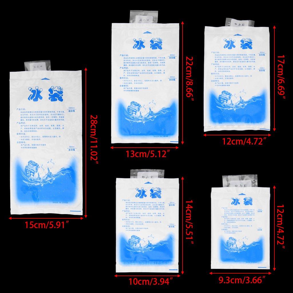 BIlinl Lot 10 Pcs R/éutilisables Gel Sacs /À Glace Cool Pack Freeze Pak Pique-Nique Refroidisseur Froid Th/érapie