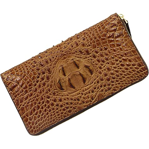 d522fc9e1afb クロコダイル財布 COREET メンズ ラウンドファスナー長財布 本牛革 クロコ型押し財布 ラウンド財布