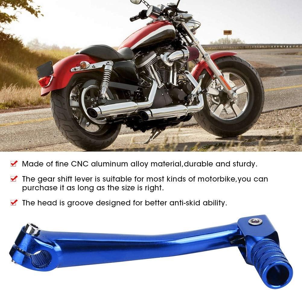 Universal CNC Aleaci/ón de Aluminio Plegable Palanca de Cambio de Marchas Accesorio de Modificaci/ón de Moto 5.9x2.5 Pulgadas Palanca de Cambio de Marchas de Motocicleta Blue