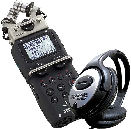 Zoom H5 Teléfono Recorder Incluye 2 GB Tarjeta SD + Auriculares Keepdrum estéreo: Amazon.es: Electrónica