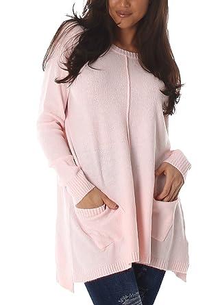 Eleganter Damen Pullover, weit geschnitten, flauschig weich mit langen  Ärmeln und einem angnehmen Tragekomfort ab37398d0a