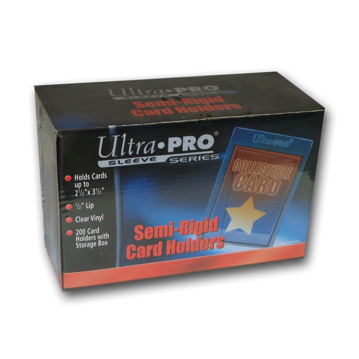 Ultra Pro Semi-Rigid 1/2'' Lip Sleeves 200ct