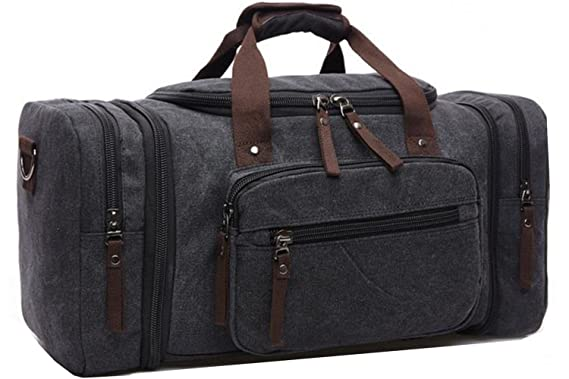 Amazon.com | Aidonger Unisex Canvas Travel Bag Duffel Bag Weekend ...