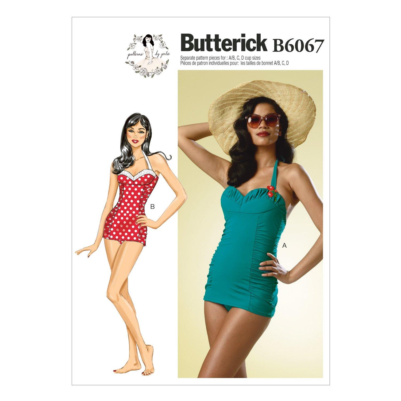 Amazon butterick patterns b6067 misses swimsuit sewing amazon butterick patterns b6067 misses swimsuit sewing template size a5 6 8 10 12 14 arts crafts sewing jeuxipadfo Gallery