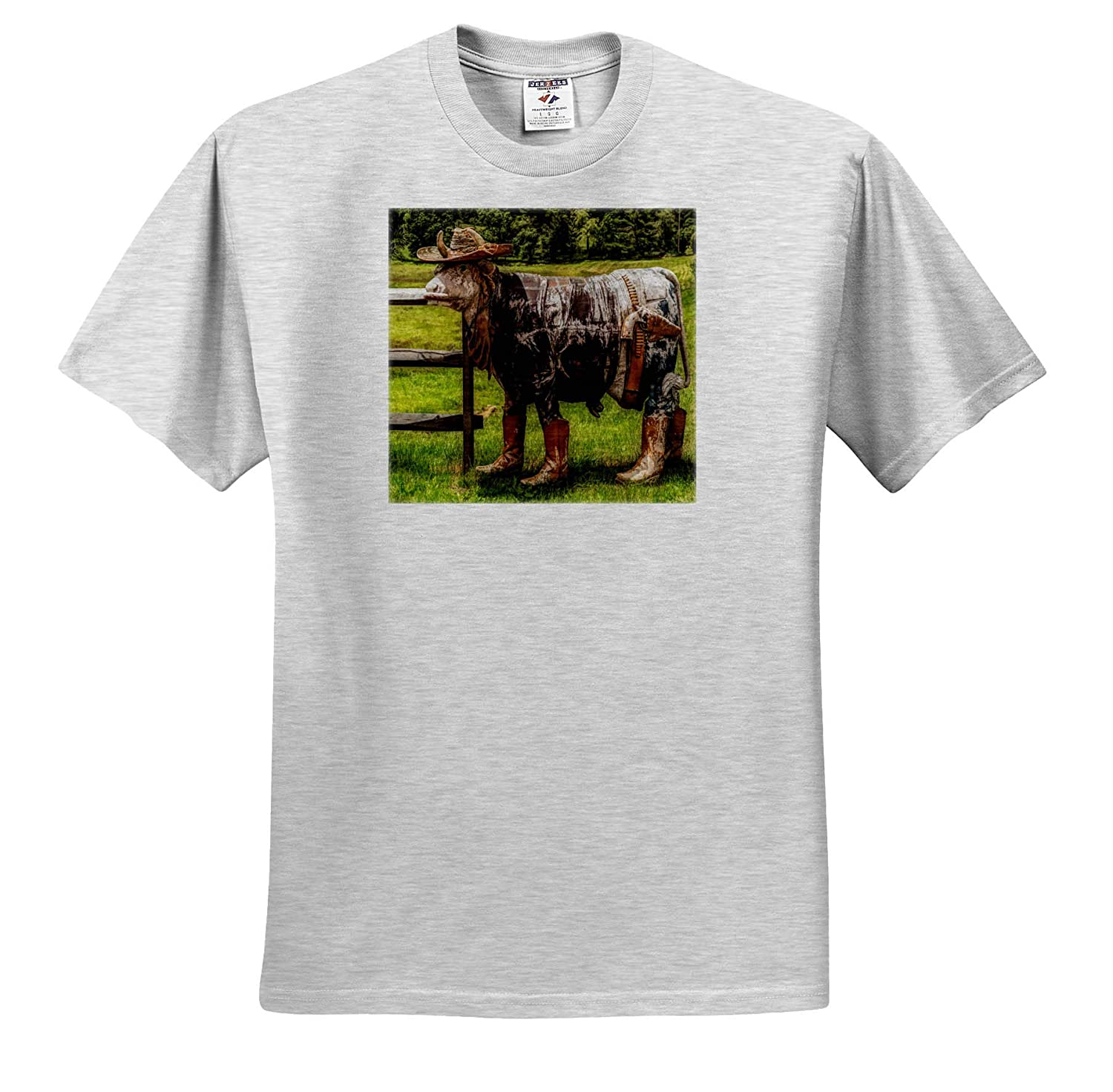 3dRose Roni Chastain Photography T-Shirts Western Cow