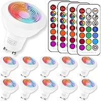 (10 Pack) RGBW Ampoule LED, Sunpion® 3W RGB Spot Lumiere LED Couleurs Changement LED Bulb,Super Lumineux 200LM Consommés Équivalent 20W (10Pack GU10 RGB+6000K)