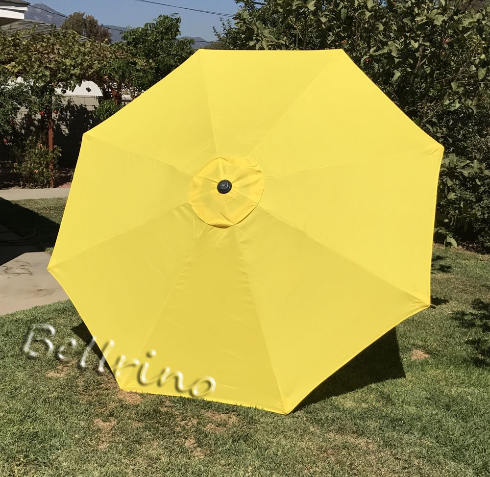 "BELLRINO DECOR Replacement YELLOW "" STRONG AND THICK "" Umbrella Canopy for 9ft 8 Ribs YELLOW (Canopy Only) - Replacement umbrella canopy for 9ft 8 ribs umbrella. (Canopy only) Make sure your umbrella is 8 ribs/8 panels ribs length 52"" to 53"" 220D Polyester with fade resistant and UV30+ - shades-parasols, patio-furniture, patio - 71hfeItjwZL -"