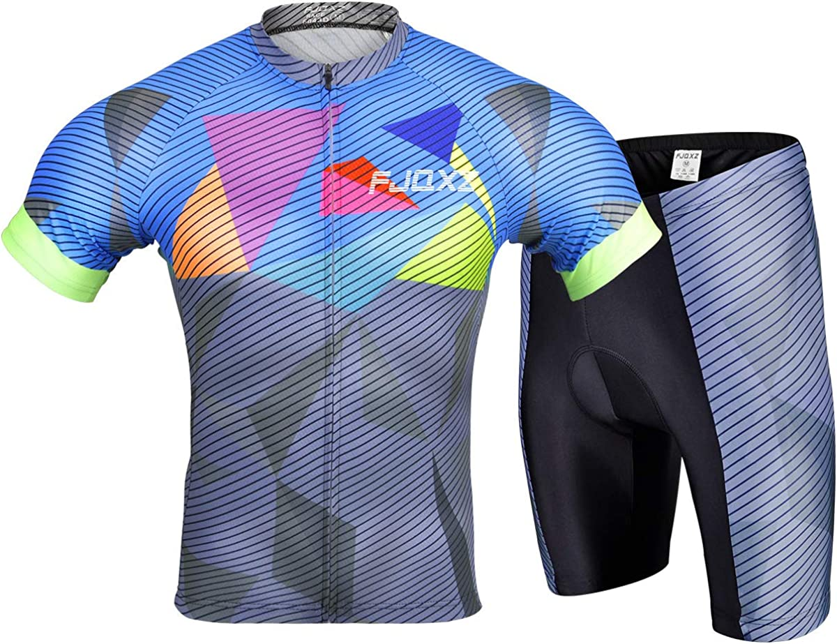 Cycling Jersey Set Bike Biking Outdoor Sports Clothing Short Sleeve Shirt Jersey and Shorts Pants Bicycle: Clothing