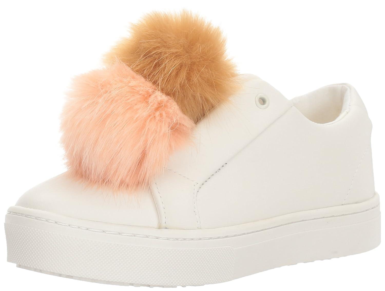 Sam Edelman Women's Leya Fashion Sneaker B01N8PCFYK 9 M US|White/Hot Coral/Natural Naked