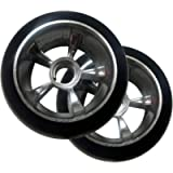 ScooterX Fits Razor Ground Force Go Kart Replacement Rear Tire Wheels - Complete Pair/Set of 2-4.5' Diameter / 2.5' Wide…