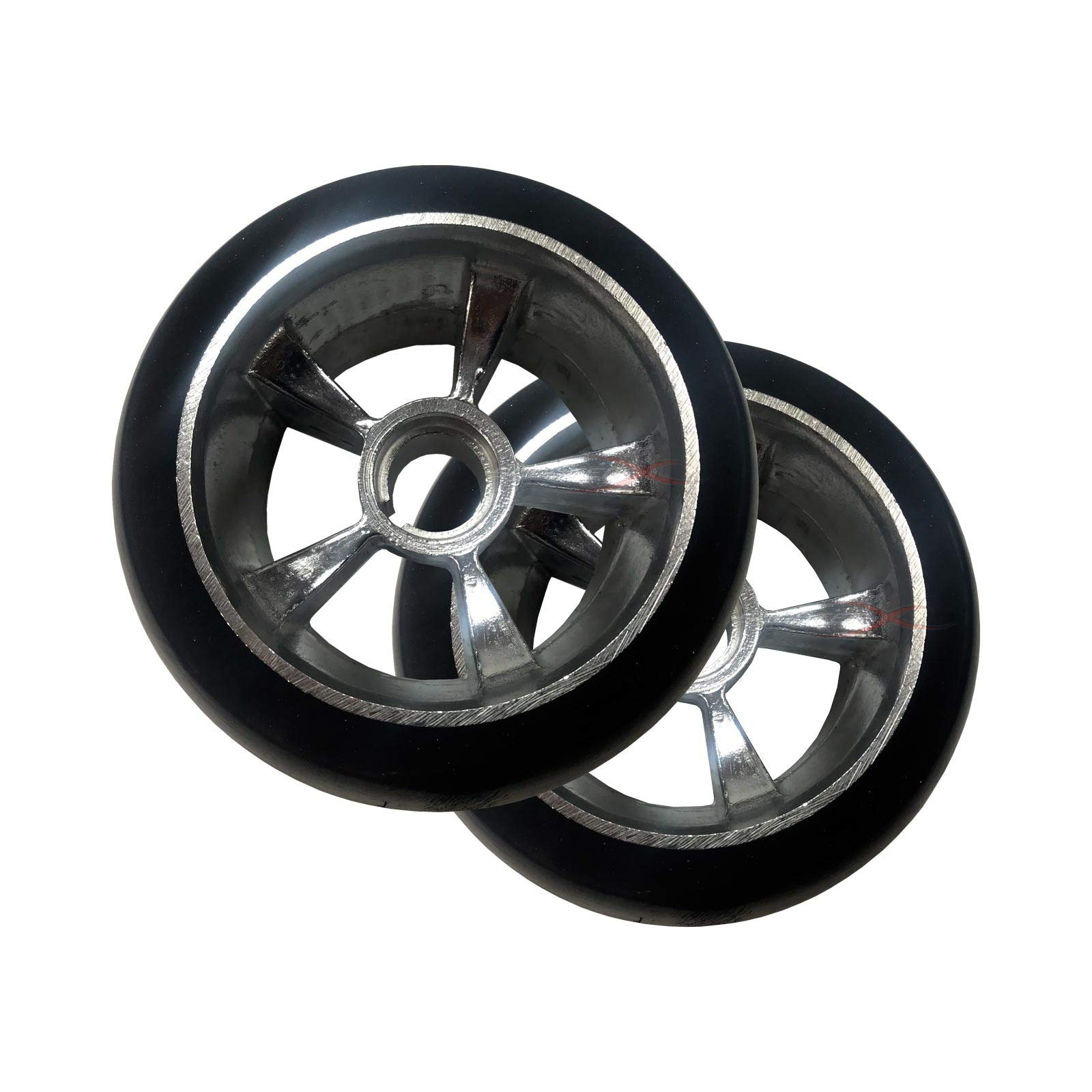 Scooter X Razor Ground Force Go Kart Replacement Rear Tire Wheels - Complete Pair/Set of 2-4.5'' Diameter / 2.5'' Wide - [3309]