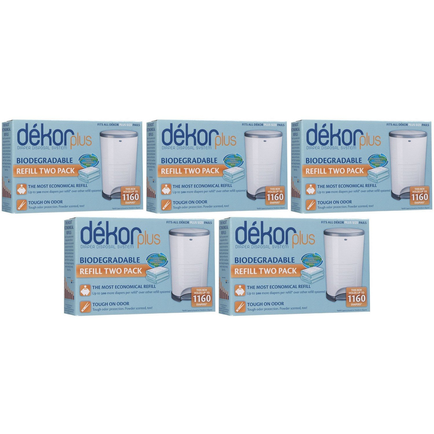 Diaper Dekor Plus Biodegradeable Refill (2 per box) - 5 boxes [Baby Product] Quality Deals 2-12300