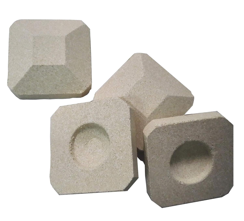 "soldbbq Efficient Radiates Heat -Reusable Ceramic Briquettes, Replacement for Lynx L27 Gas Grill,50 Pieces, 2""by 2"" Each"