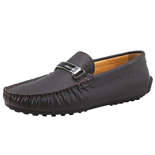 Shenduo Zapatos Primavera - Mocasines de Cuero Suave con Suela Goma cómodos para Hombre D7167: Amazon.es: Zapatos y complementos