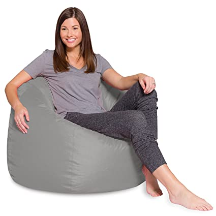 Brilliant Big Comfy Bean Bag Chair Posh Large Beanbag Chairs With Removable Cover For Kids Teens And Adults Polyester Cloth Puff Sack Lounger Furniture For Evergreenethics Interior Chair Design Evergreenethicsorg