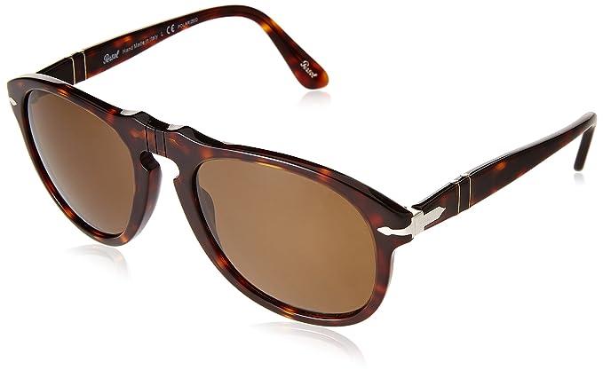 Amazon.com: Persol 0PO0649 anteojos de sol con marco redondo ...