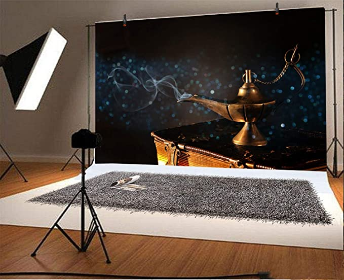 GoEoo Legend Aladdin and His Wonderful Lamp Backdrops 9x6ft Vinyl Photography Backgrounds Old Books Wooden Floor Photo Backdrop Children Adult Photo Shooting Studio Props