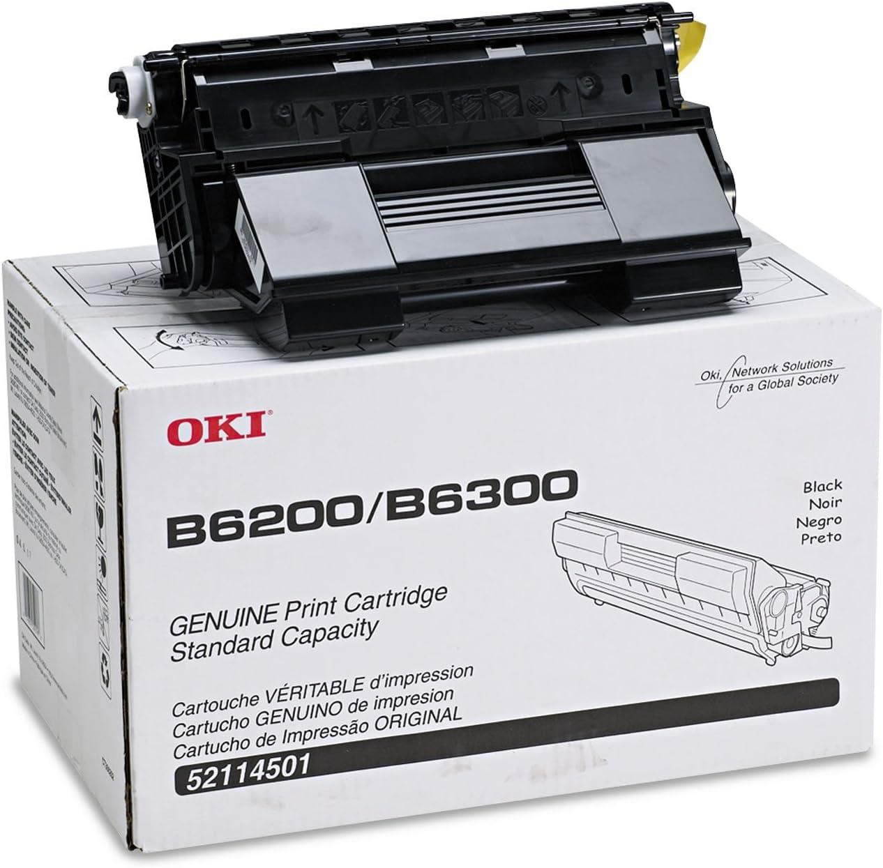 Black LD Compatible Toner Cartridge Replacement for Okidata 52114501 B6200 /& B6300 Series