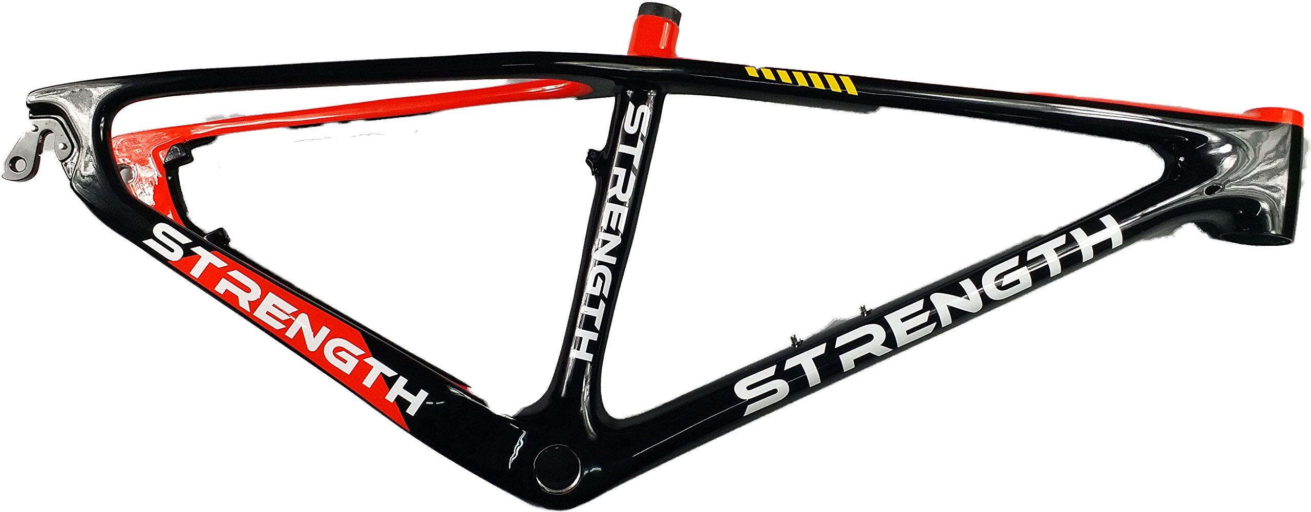 Strength Mountain Bicycle Frame 26ER Bike Frame Carbon Fiber Frame 17'' Red and Black